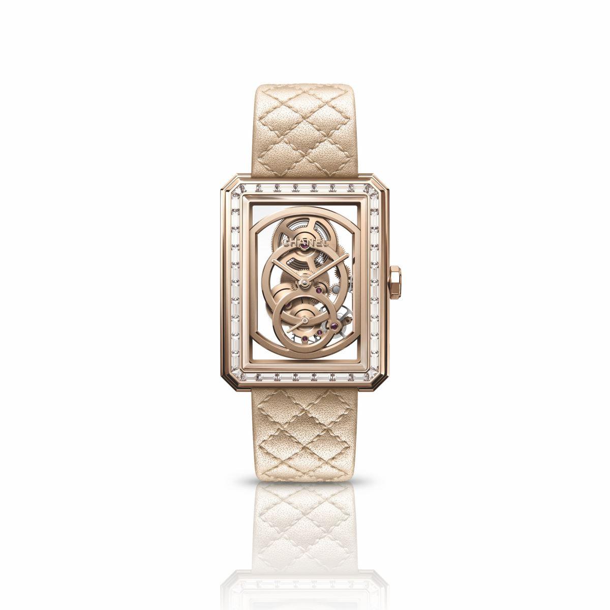 Đồng hồ Chanel Boy•Friend Skeleton Beige Gold