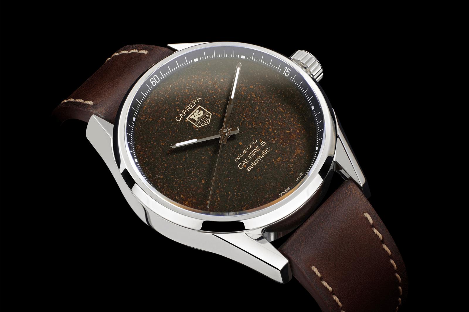 đồng hồ mặt số màu cafe tropical tag heuer carrera mới 2020
