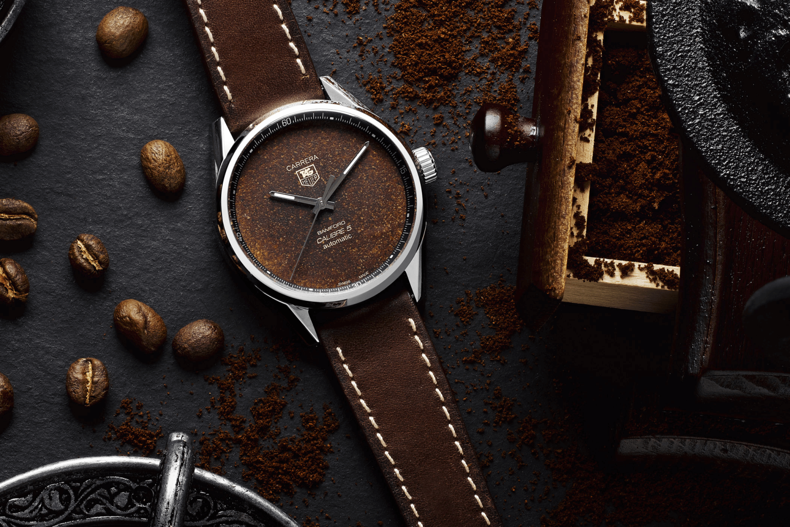 đồng hồ tag heuer carrera mặt số cà phê troppical mới 2020