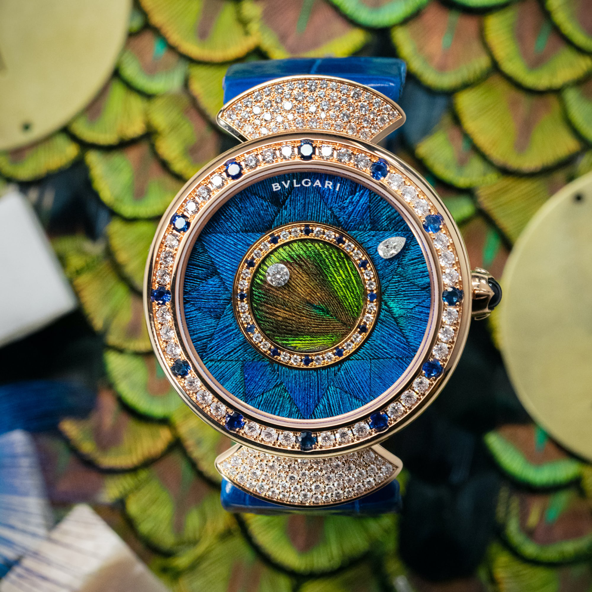 đồng hồ lông công Bvlgari Diva's Dream Peacock Dischi LVMH 2021