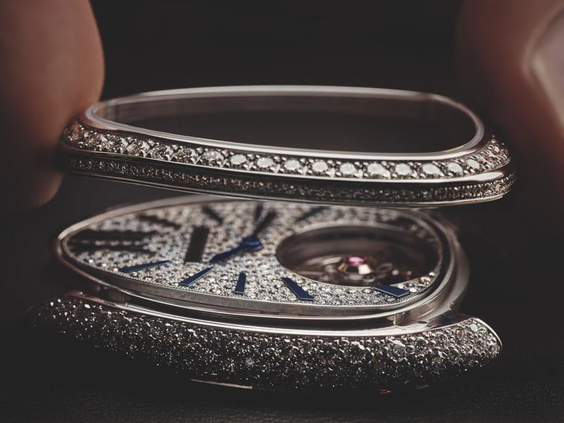 đồng hồ kim cương tourbillon Bulgari Serpenti