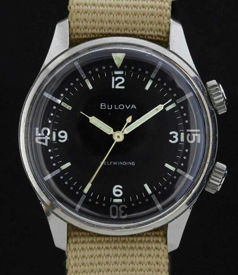 Đồng hồ lặn Bulova sử dụng vỏ Super Compressor thập niên 60.