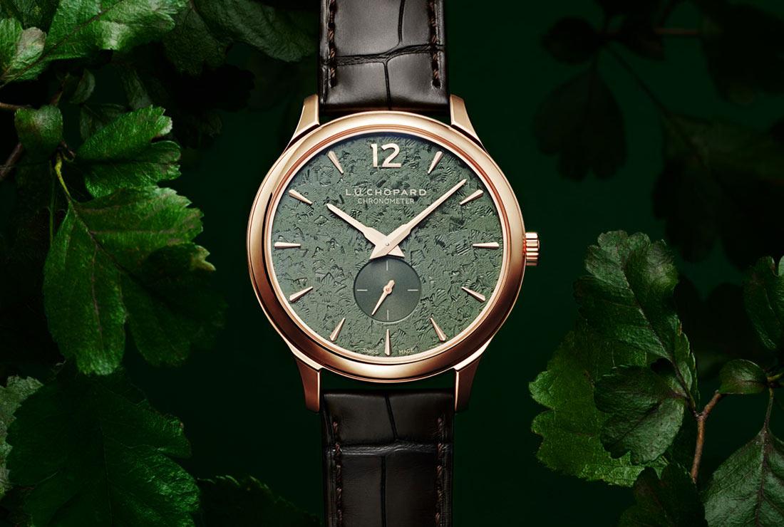 đồng hồ nam Chopard L.U.C Spirit Of Natural mặt số xanh lá cây 2020