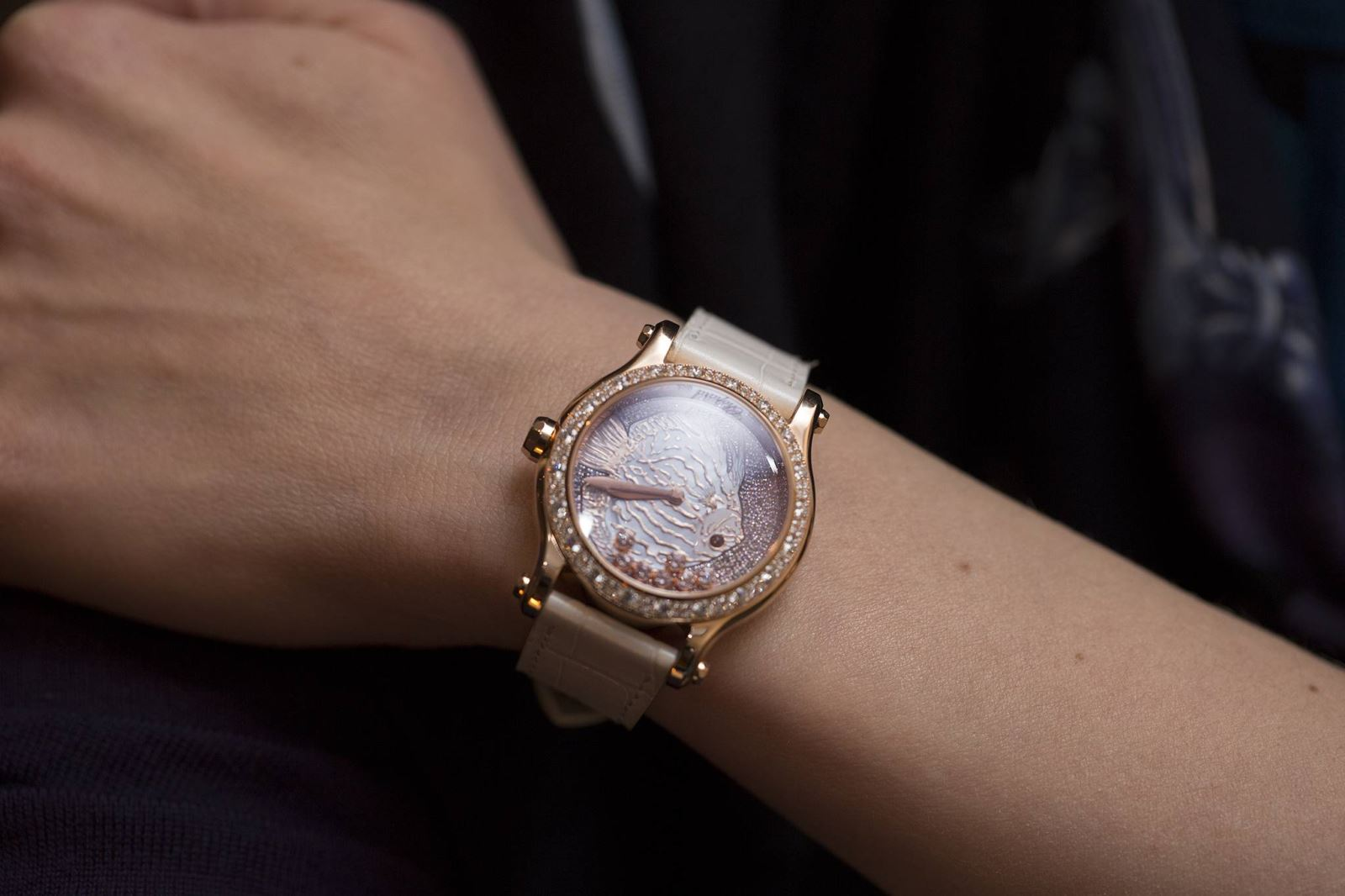 đồng hồ nữ Chopard Happy Fish limited ra mắt Baselworld 2015