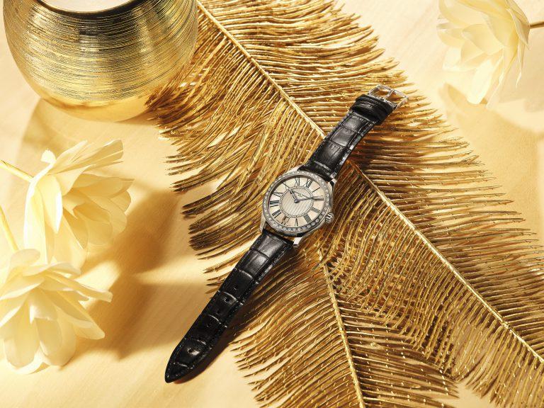 đồng hồ nữ kim cương frederique constant classics quartz ladies