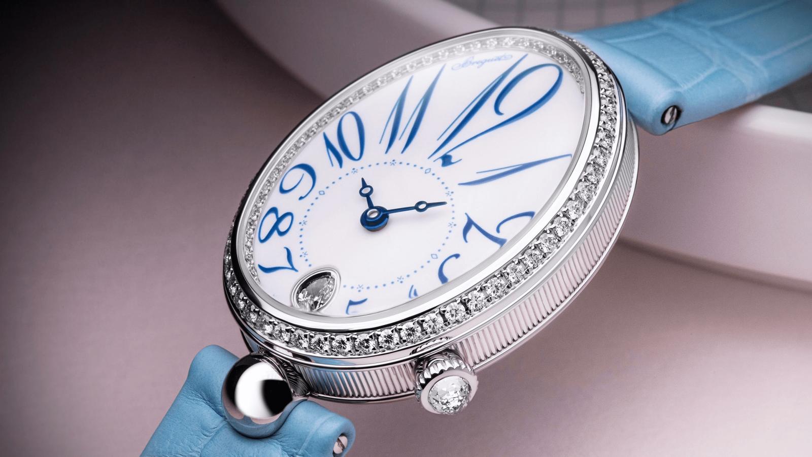 đồng hồ nữ mặt số oval breguet reine de naples 8918 năm 2020
