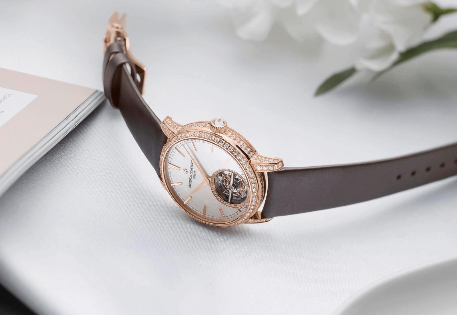 đồng hồ nữ sang trọng vacheron constantin traditionnelle tourbillon 6035T/000R-B634
