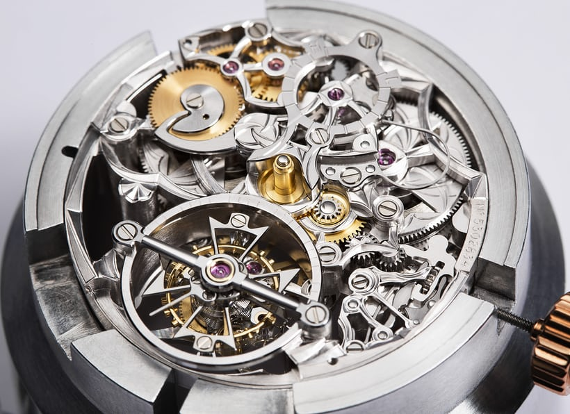 Calibre 2206SQ trong đồng hồ Vacheron Constantin Les Cabinotiers Openworked Tourbillon High Jewelry