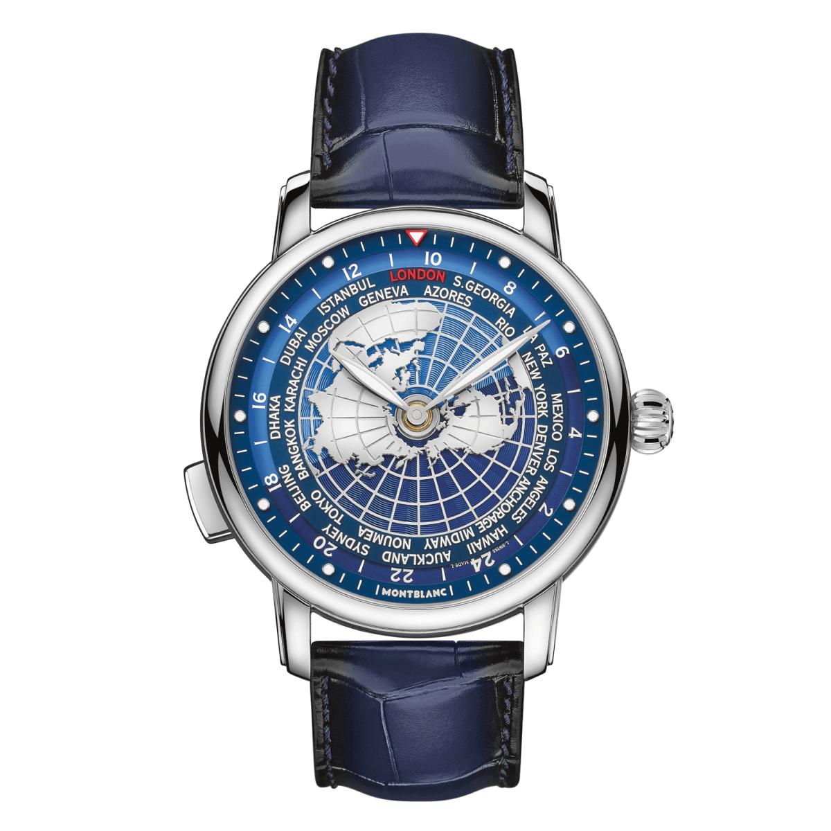 đồng hồ giờ thế giới world-time montblanc star orbis terrarum 2020