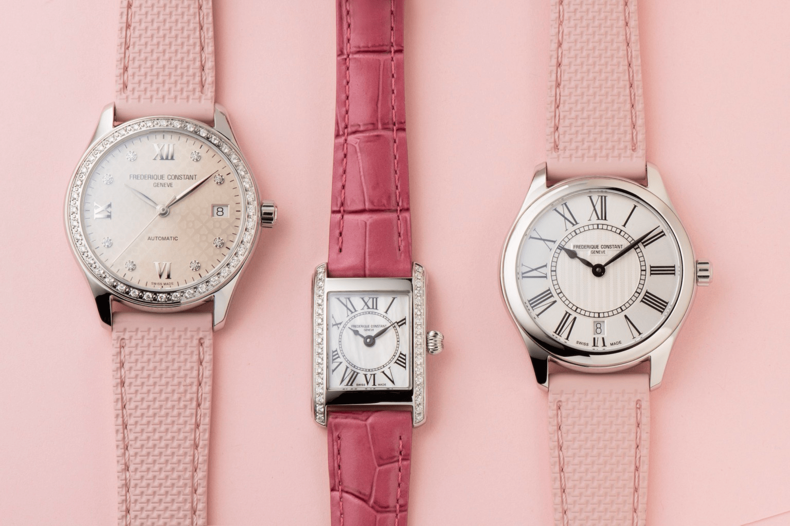 Frederique Constant Special Edition For Women pink ribbon