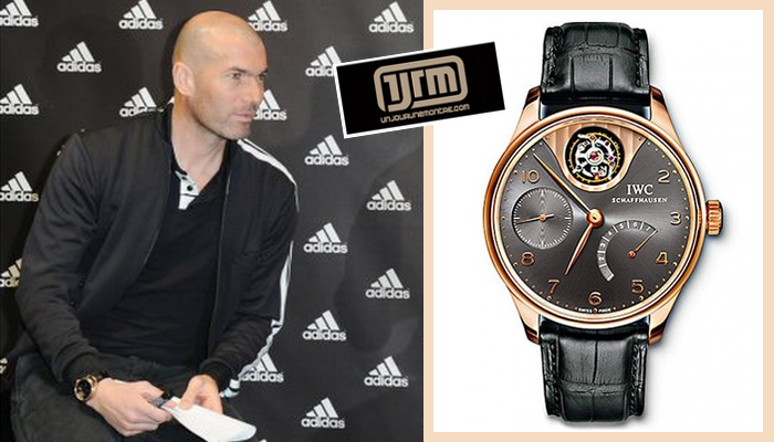 ầu thủ bóng đá người Pháp Zinedine Zidane đeo chiếc IWC Portuguaise Tourbillon Mystere
