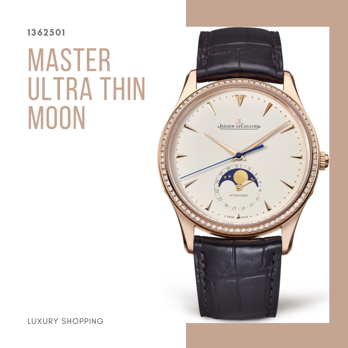 đồng hồ nam Jaeger-LeCoultre 1362501 Ultra Thin Moon