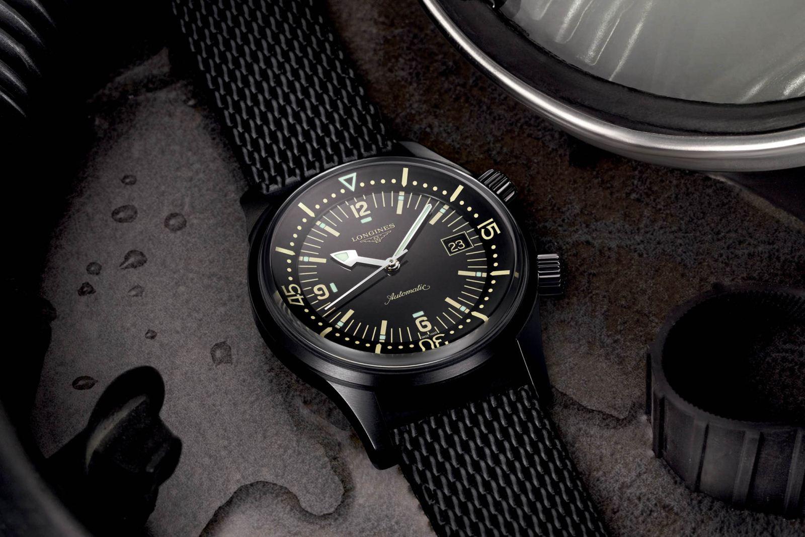 đồng hồ Longines Legend Diver Black