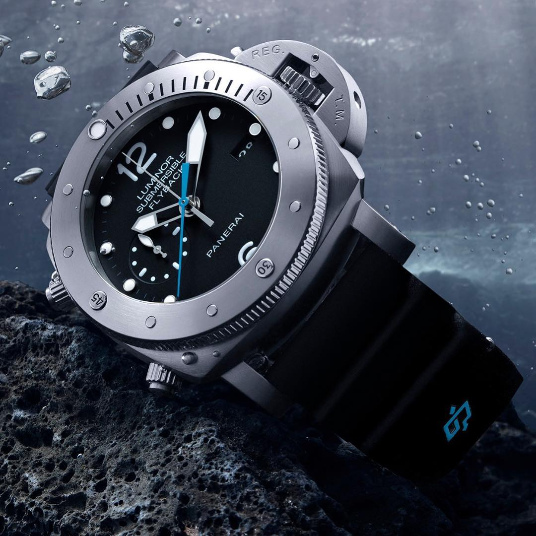 Đồng hồ Luminor Submersible 1950 3 Days Chrono Flyback Automatic Titanio PAM00614