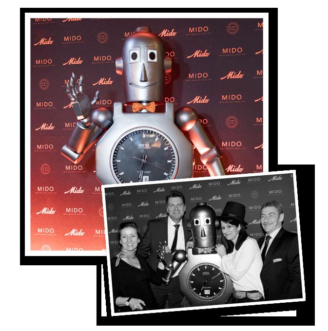Chiếc đồng hồ Mido Robotic chống vi tính hóa, từ tính và chống nước vào những năm 60