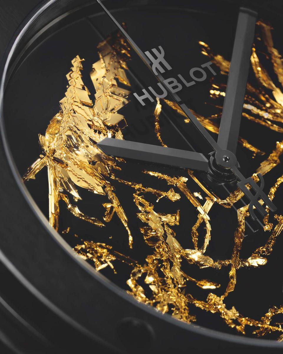 mặt số tinh thể vàng đồng hồ Hublot