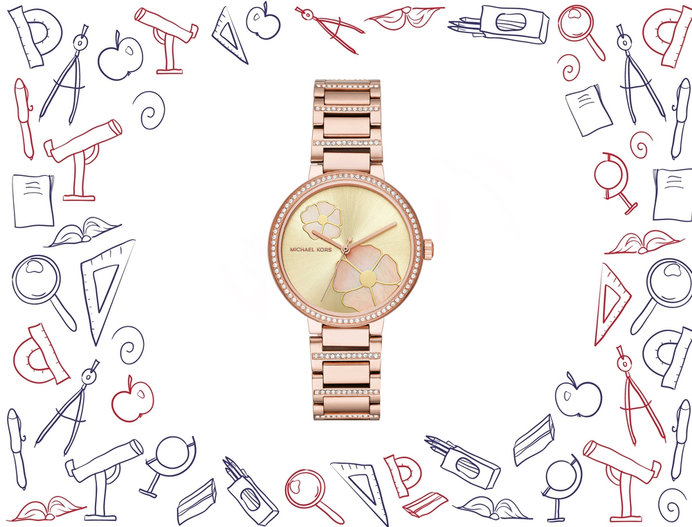 đồng hồ Michael Kors Courtney Rose Gold-Tone Watch 36mm