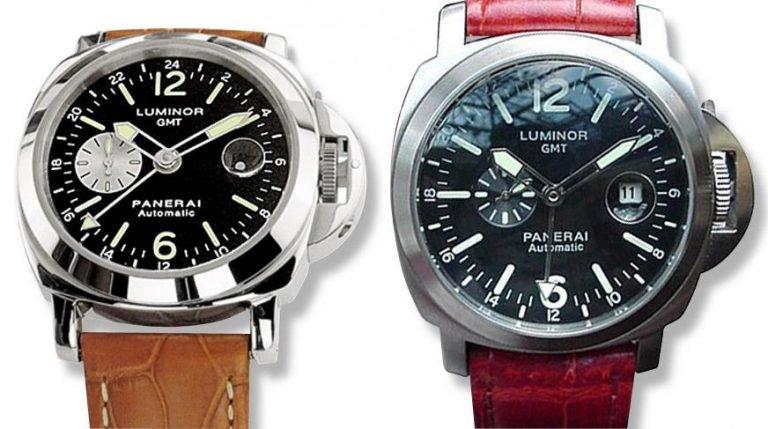 phân biệt đồng hồ Panerai Luminor GMT chính hãng và fake