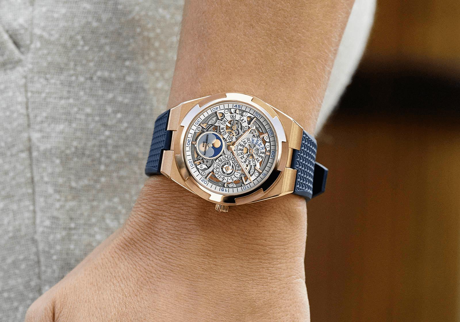 đồng hồ siêu mỏng vacheron constantin Overseas Perpetual Calendar Skeleton