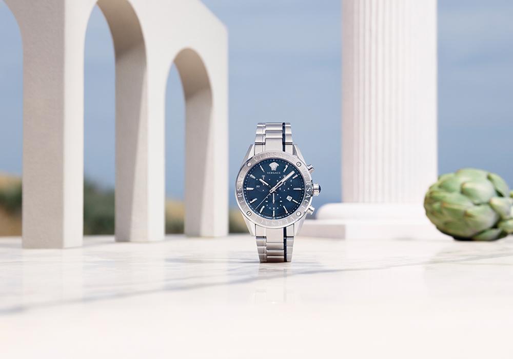 Thiết kế đồng hồ nam Versace V-Chrono 2020