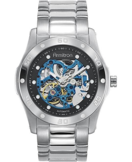 Armitron Men's Silver-Tone with Watch 42mm