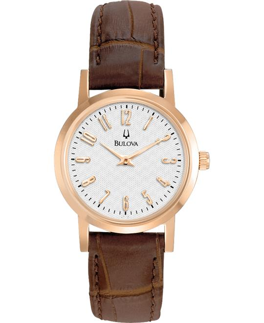 Bulova Classic Leather Strap Watch 27mm