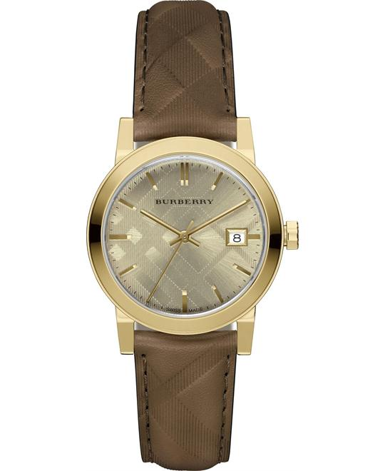 Burberry The Classic Round Dark Brown  Watch 34mm