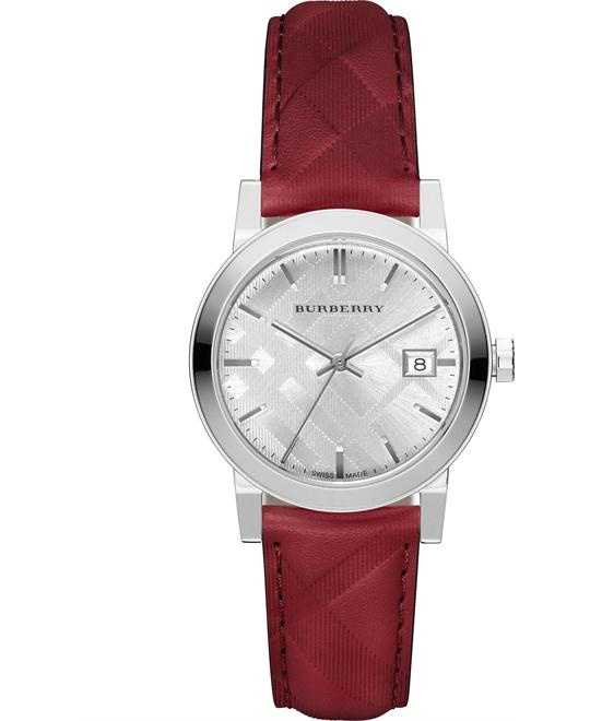 Burberry The Classic Round Red Watch 34mm