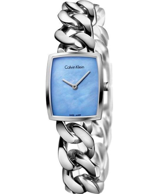 dong ho CALVIN KLEIN AMAZE CHAIN WOMEN'S WATCH 21MM