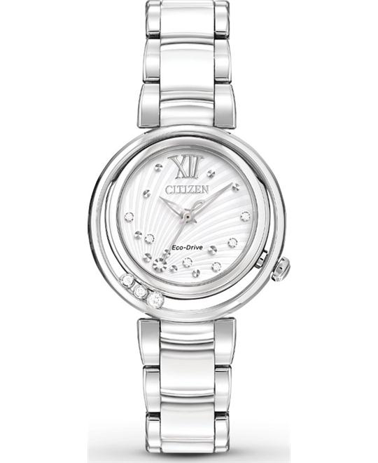 CITIZEN L SUNRISE DIAMOND CERAMIC WOMEN'S WATCH 29mm