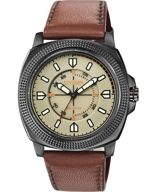 Citizen Drive CTO Analog Japanese Quartz Brown 48mm