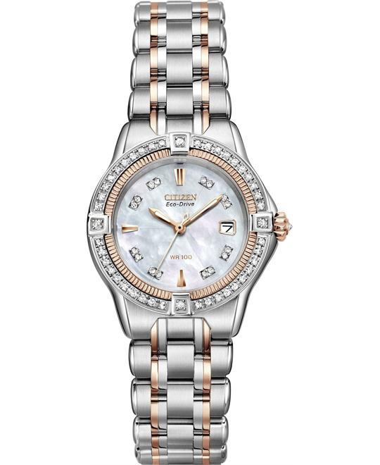 Citizen Quattro Diamond Watch 28mm