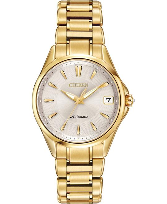 Citizen Women's Classic Automatic Gold Watch, 32.5mm