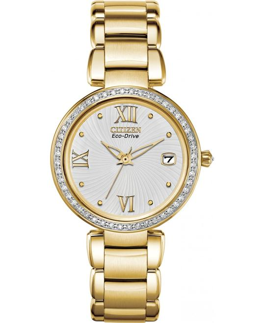 Citizen Marne Japanese Quartz Women's  Gold 33mm
