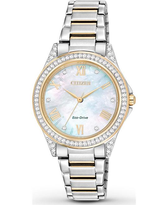 Citizen Women's POV Japanese Two Tone Watch, 34mm