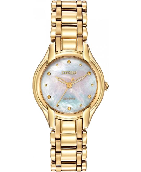 Citizen Silhouette Japanese Gold Watch, 26mm