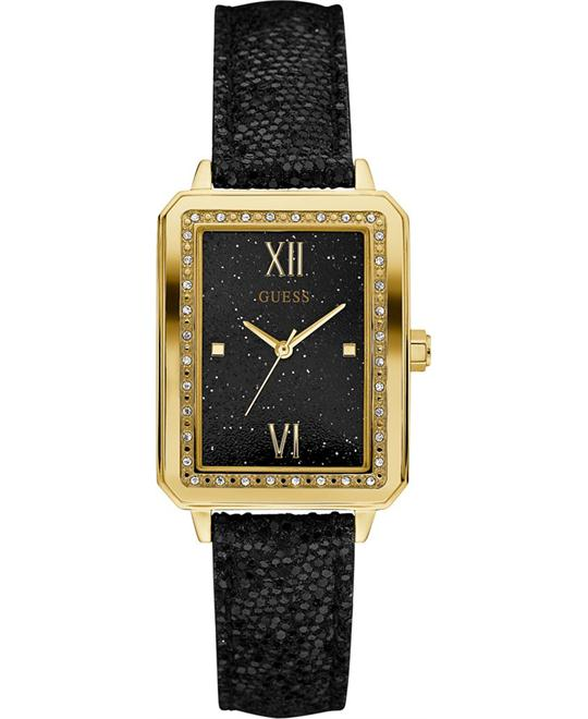 GUESS Black Leather Strap Women's Watch 28mm