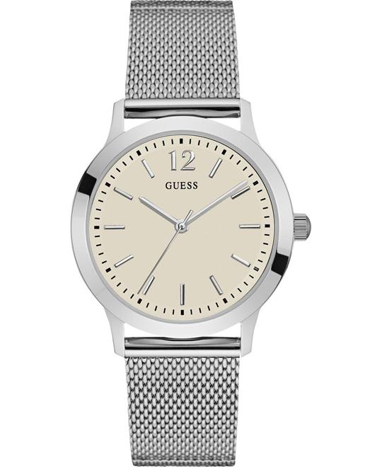 GUESS Dressy Silver Tone Watch 37.5mm