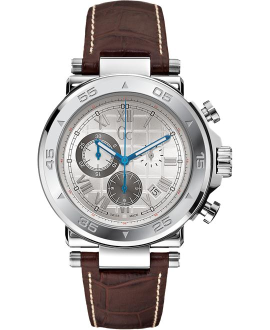 GUESS Gc-1 Sport Timepiece - Silver/Brown, 44mm