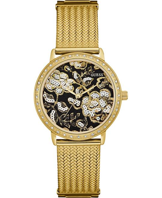 GUESS Brocade Mesh Bracelet Watch 35mm