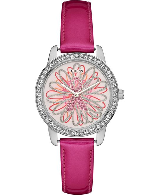 GUESS Pink Patent Limited Watch 34mm