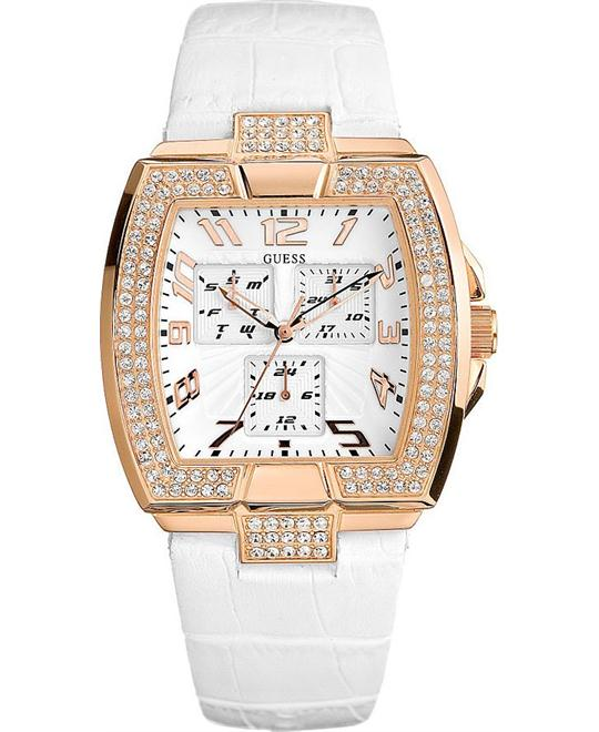 Guess Sport Leather Strap Ladies Watch 35mm