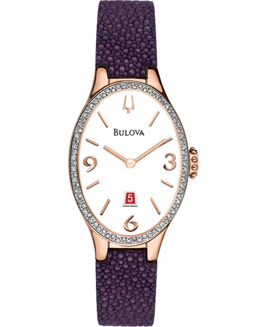 Bulova Diamond Gallery Collection Watch 25x35mm
