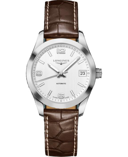 Longines L2.385.4.76.3 Conquest Automatic Watch 34MM