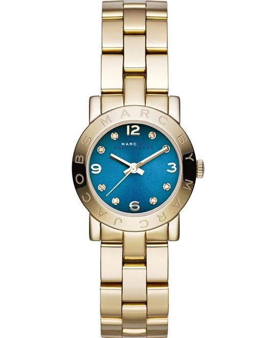 Marc Jacobs Amy Mini Blue Gold Watch, 26mm