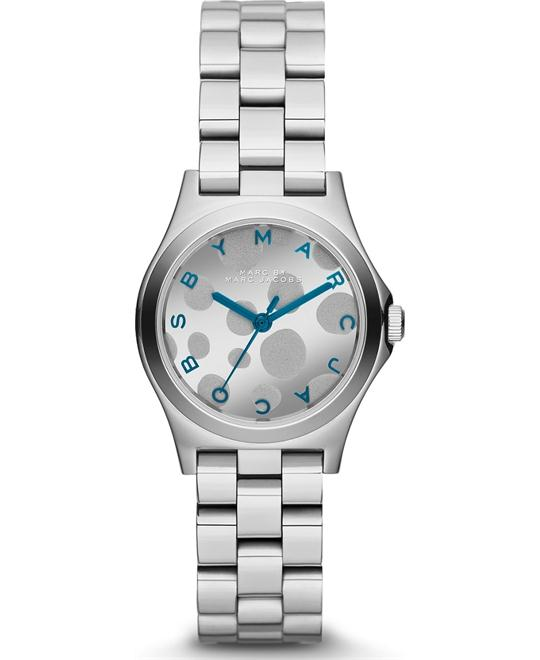 Marc Jacobs Henry Silver Tone Blue Watch 25mm