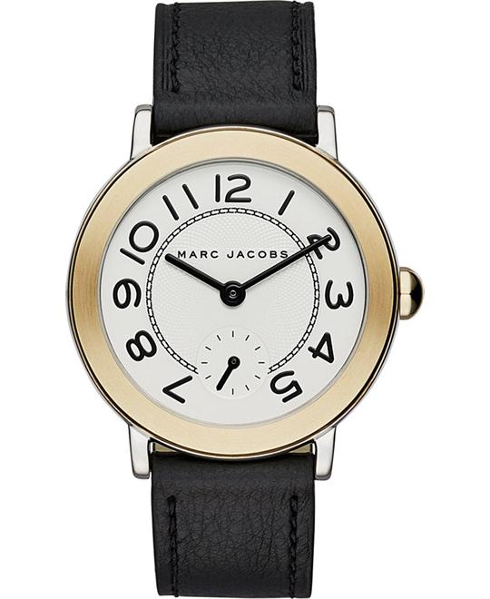 Marc Jacobs Riley Black Leather Strap Women's Watch 36mm