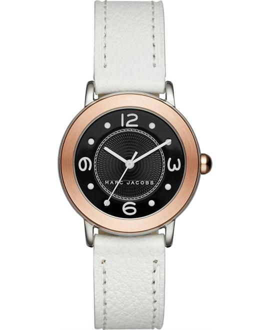 Marc Jacobs Riley White Leather Strap Women's Watch 28mm