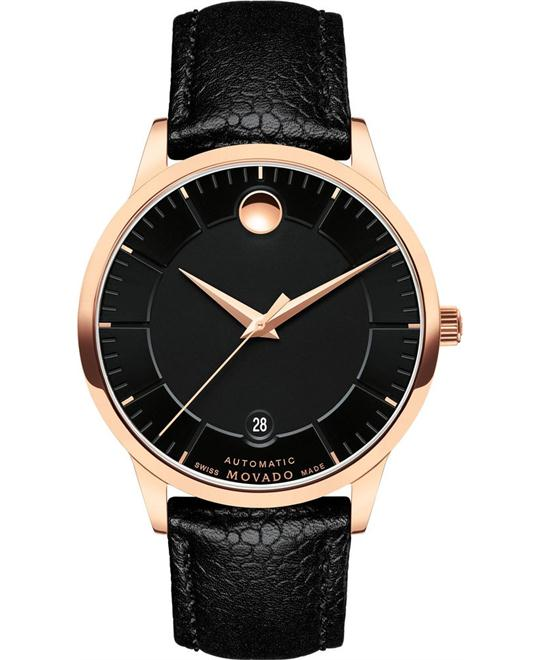 dong ho MOVADO MEN'S 1881 BLACK AUTOMATIC WATCH 39.5MM