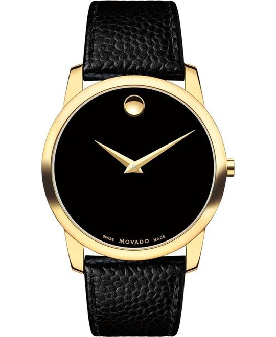đồng hồ MOVADO MUSEUM GOLD PLATED CASE WATCH 40mm